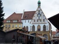 Christmas market in Amberg Rathausplatz